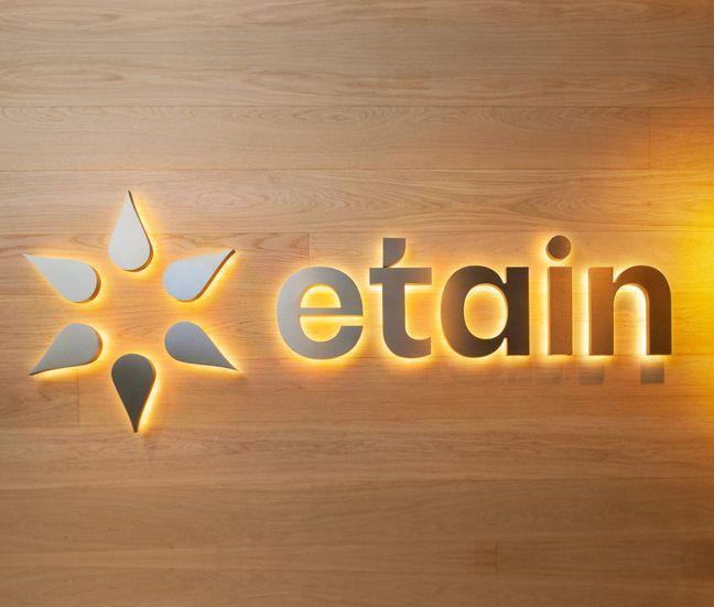 etain logo signage